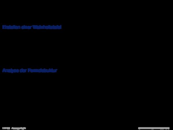 Erfüllbarkeitsalgorithmen Verschiedene Möglichkeiten, die Erfüllbarkeit einer Formel α zu entscheiden.