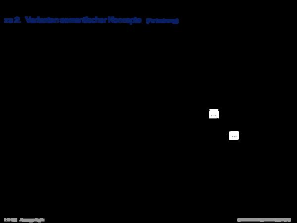 Syntaktische Schlussfolgerungsverfahren zu 2. Varianten semantischer Konzepte