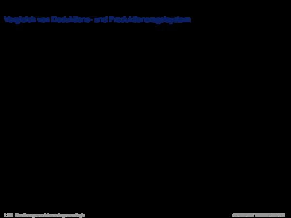 Produktionsregelsysteme Vergleich von Deduktions- und Produktionsregelsystem