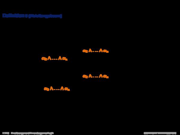 Inferenz für Produktionsregelsysteme Definition 8 (Ableitungsbaum)