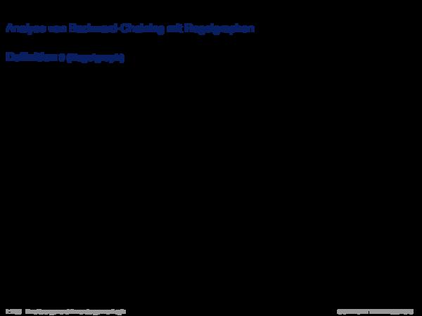 Inferenz für Produktionsregelsysteme Analyse von Backward-Chaining mit Regelgraphen