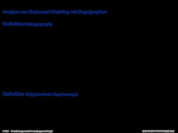 Backward-Chaining Analyse von Backward-Chaining mit Regelgraphen