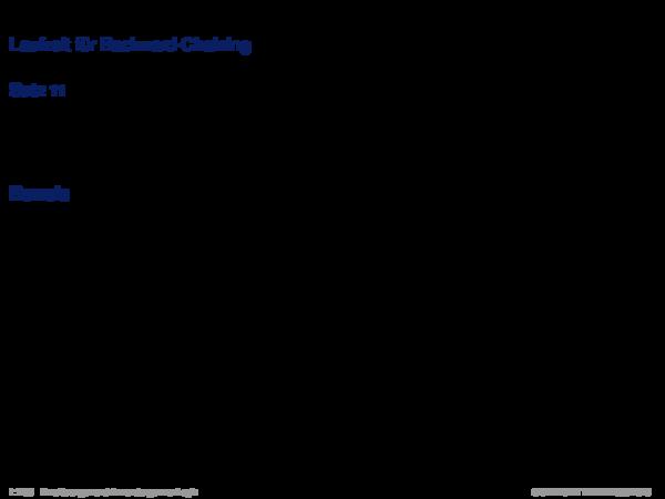 Inferenz für Produktionsregelsysteme Laufzeit für Backward-Chaining