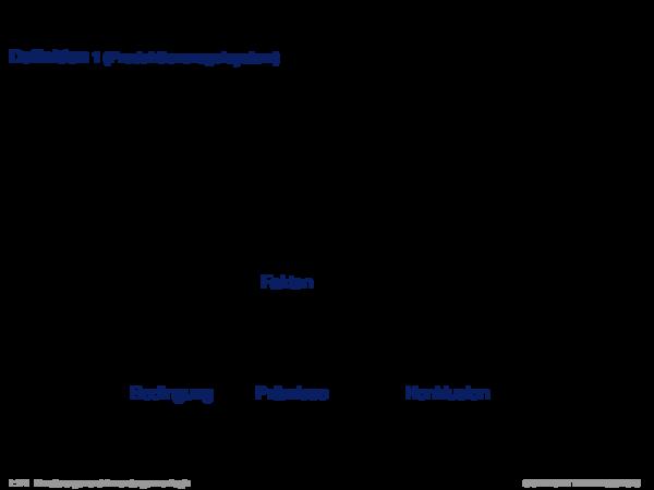 Produktionsregelsysteme Definition 1 (Produktionsregelsystem)