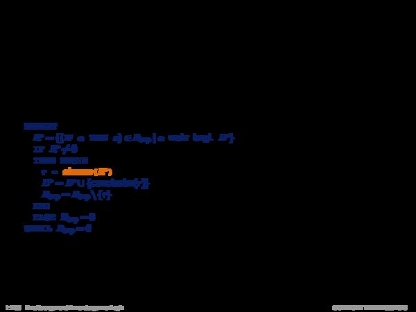 Produktionsregelsysteme mit Negation Algorithm: