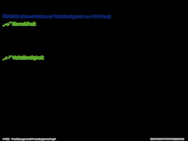 Produktionsregelsysteme mit Negation Beweis (Korrektheit und Vollständigkeit von FC-N-test)