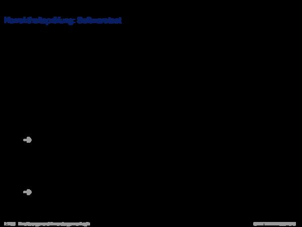 Verifikation Korrektheitsprüfung: Softwaretest