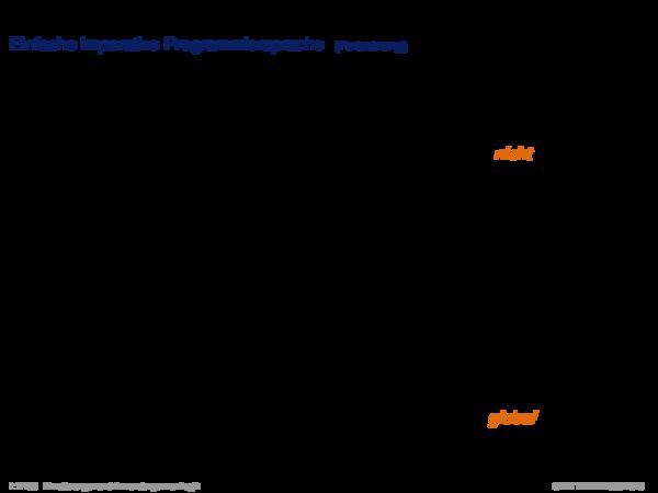 Verifikation Einfache imperative Programmiersprache