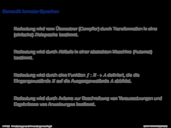Verifikation Semantik formaler Sprachen