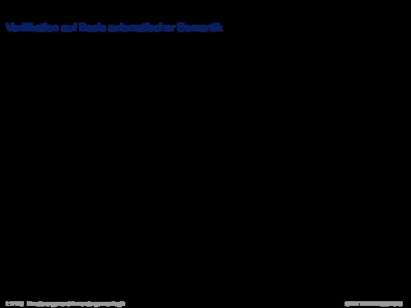 Verifikation mit dem Hoare-Kalkül Verifikation auf Basis axiomatischer Semantik