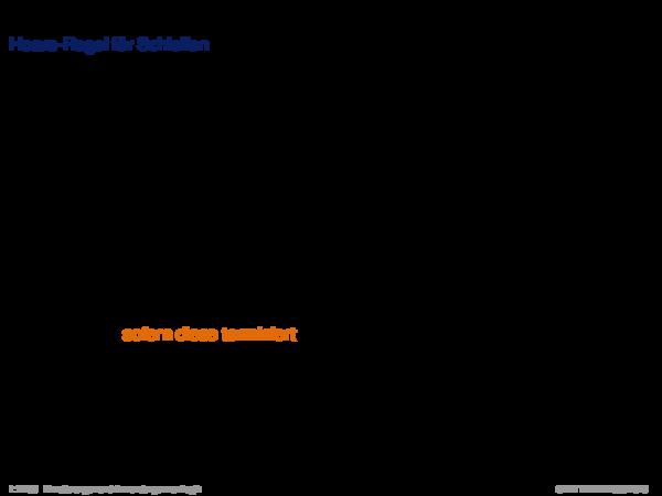 Hoare-Regeln und partielle Korrektheit Hoare-Regel für Schleifen