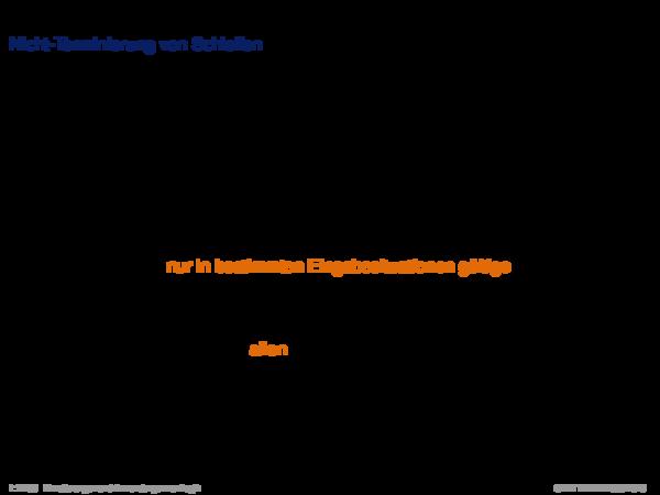 Terminierung Nicht-Terminierung von Schleifen