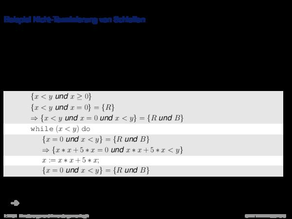 Terminierung Beispiel Nicht-Terminierung von Schleifen