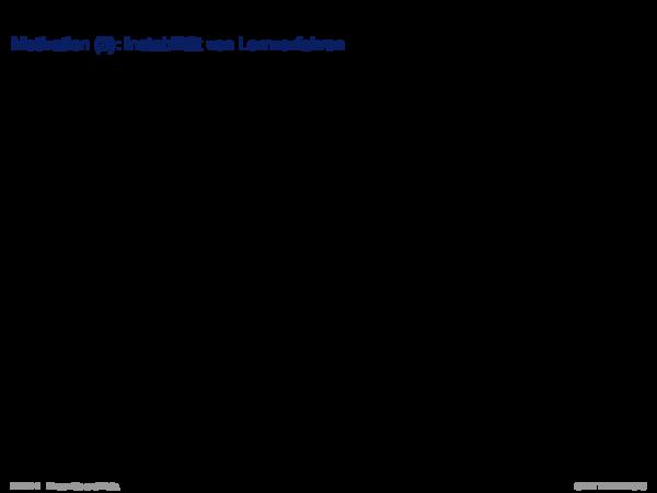 Ensemble Methods Motivation (3): Instabilität von Lernverfahren