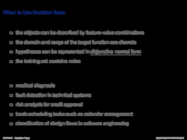 Decision Trees Basics Performance of Decision Trees