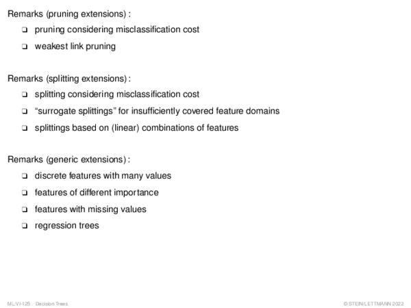 Decision Tree Pruning Pruning: Reduced Error Pruning