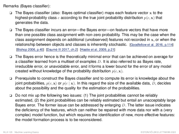 Evaluating Effectiveness (1) Illustration 2: Feature Distribution given Linearly Separable Classes