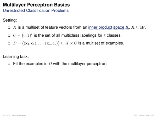 Multilayer Perceptron Weight Adaptation: Incremental Gradient Descent