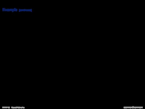 Perceptron Learning Example