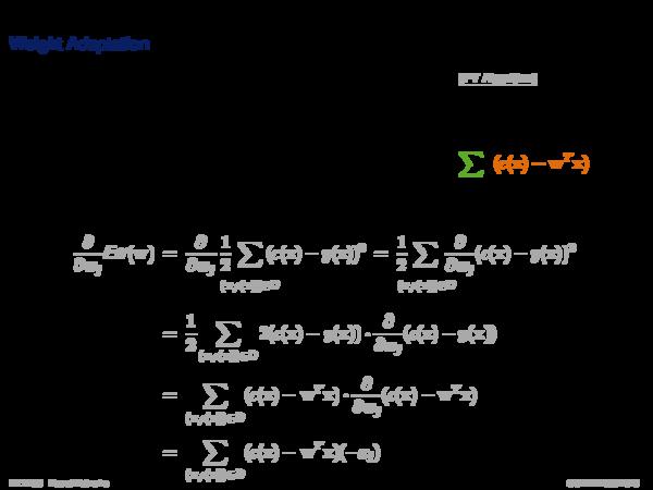 Gradient Descent Weight Adaptation: Batch Gradient Descent