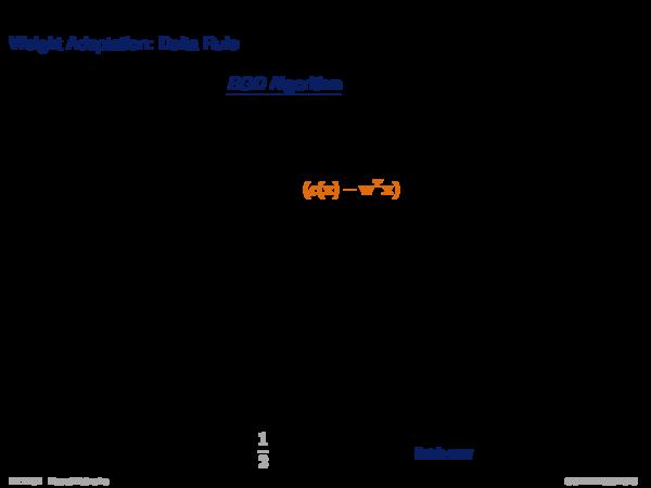 Gradient Descent Weight Adaptation: Incremental Gradient Descent