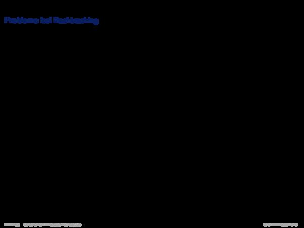 Backtracking-basierte Verfahren Probleme bei Backtracking