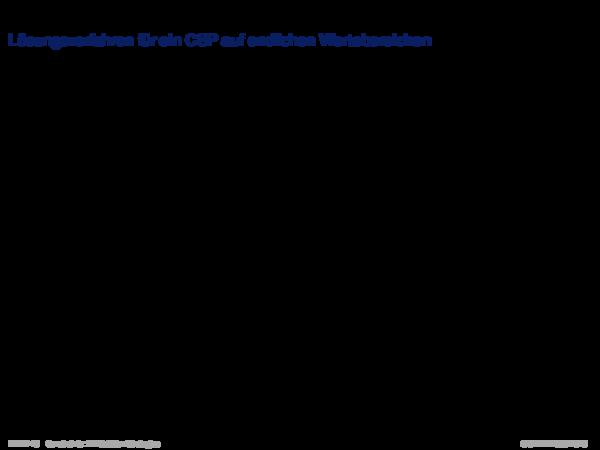Generate-and-Test (GT) Lösungsverfahren für ein CSP auf endlichen Wertebereichen