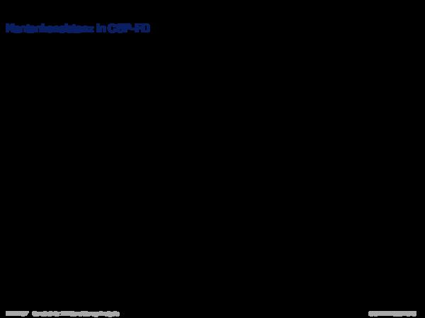 Konsistenzanalyse Kantenkonsistenz in CSP-FD