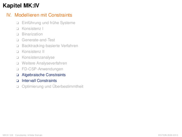 Kapitel MK:IV IV. Modellieren mit Constraints