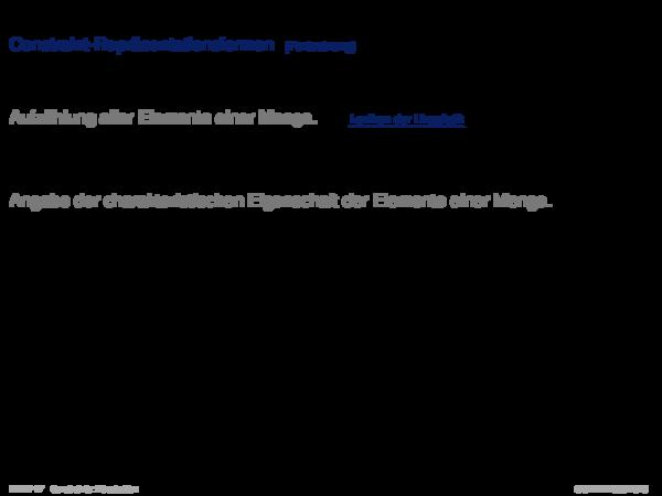 Einführung und frühe Systeme Constraint-Repräsentationsformen