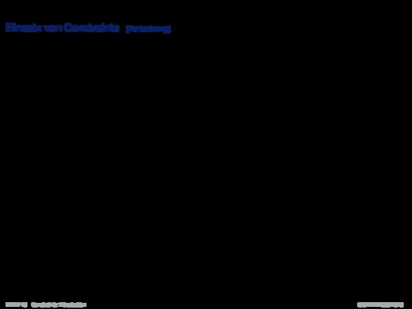 Einführung und frühe Systeme Einsatz von Constraints