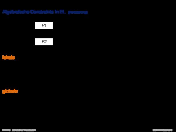 Einführung und frühe Systeme Algebraische Constraints in EL