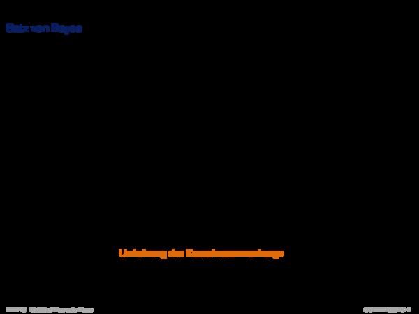 Diagnose mit Bayes Satz von Bayes