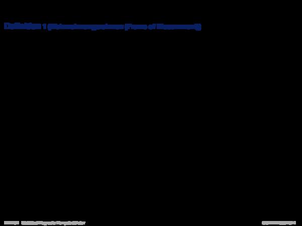 Evidenztheorie von Dempster/Shafer Definition 1 (Wahrnehmungsrahmen (Frame of Discernment))