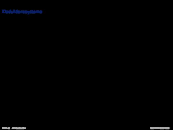 Gebiete der KI Deduktionssysteme