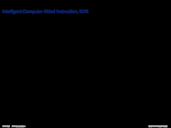 Gebiete der KI Intelligent Computer Aided Instruction, ICAI