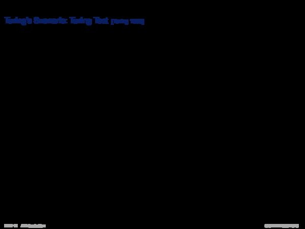 Starke KI versus Schwache KI Turing's Szenario: Turing Test