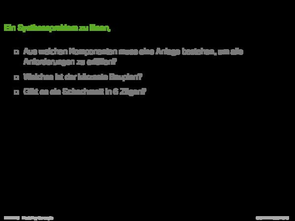 Systemraum und Modellraum Ein Syntheseproblem zu lösen, bedeutet, Fragen bezüglich einer Menge von