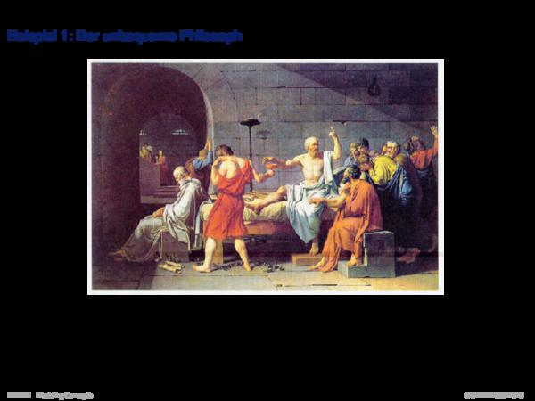 System und Modell Beispiel 1: Der unbequeme Philosoph