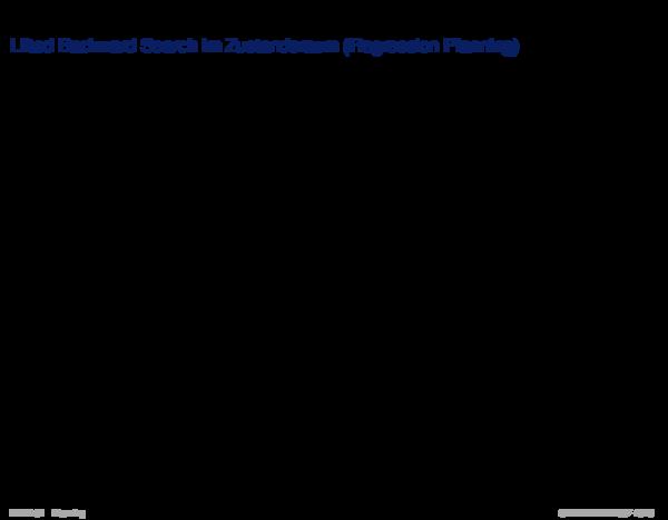 Suche im Zustandsraum Lifted Backward Search im Zustandsraum (Regression Planning)