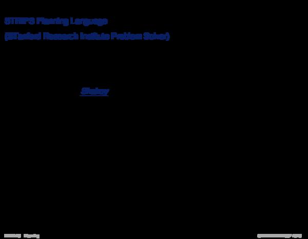 Wissensrepräsentation STRIPS Planning Language
