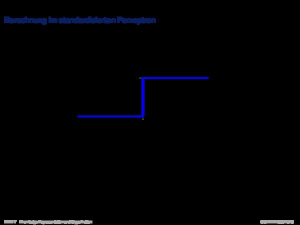 Wissensrepräsentation in der Klassifikation Berechnung im standardisierten Perzeptron