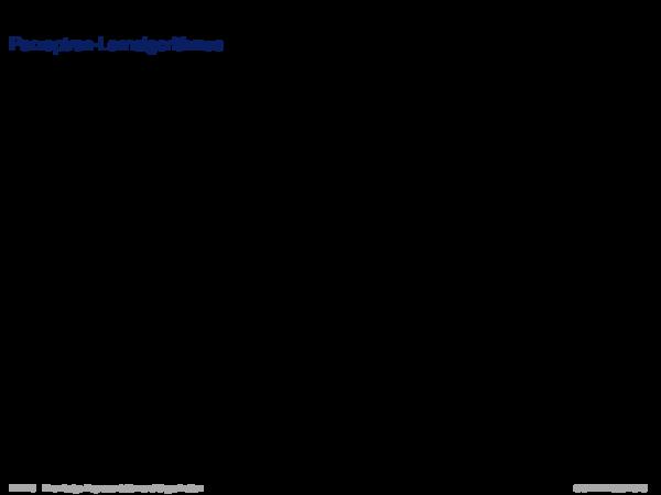 Wissensrepräsentation in der Klassifikation Perzeptron-Lernalgorithmus