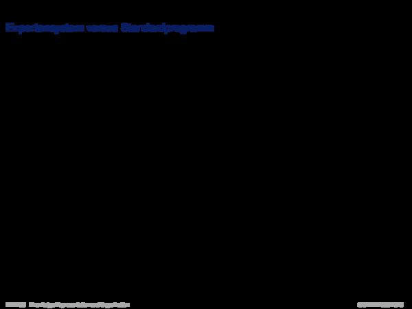 Expertensysteme Expertensystem versus Standardprogramm