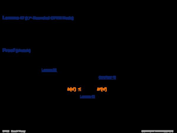 Admissibility of A* Lemma 47 (C ∗-Bounded OPEN Node)