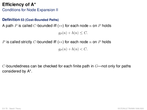Efficiency of A* Conditions for Node Expansion II