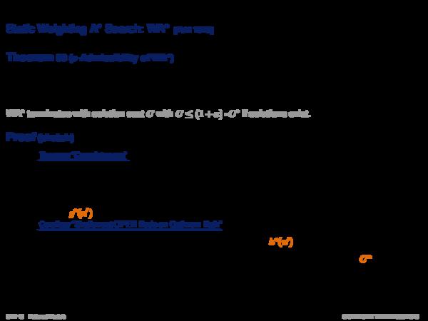 ε-Admissible Speedup Versions of A* Dynamic Weighting A* Search: DWA*