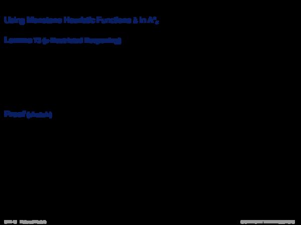 ε-Admissible Speedup Versions of A* Example: Monotone heuristic function h in NRA*ε