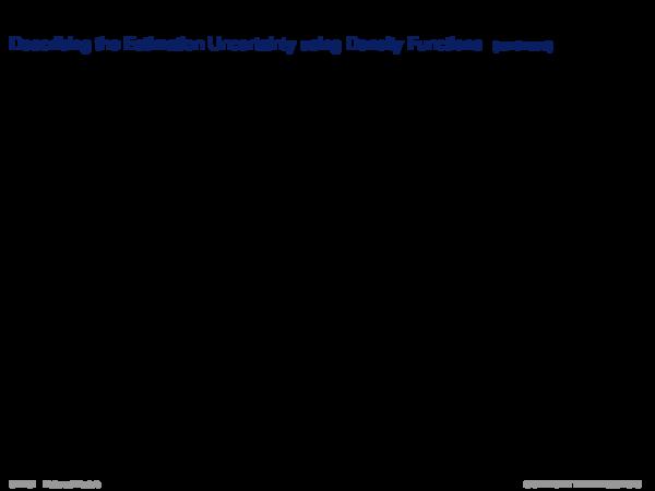 Using Information about Uncertainty of h Beschreibung der Schätzunsicherheit durch Dichtefunktionen