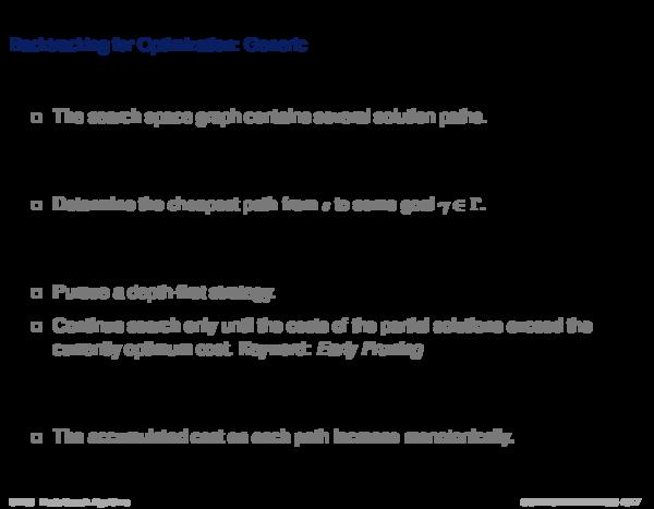 Backtracking Backtracking for Optimization: Generic